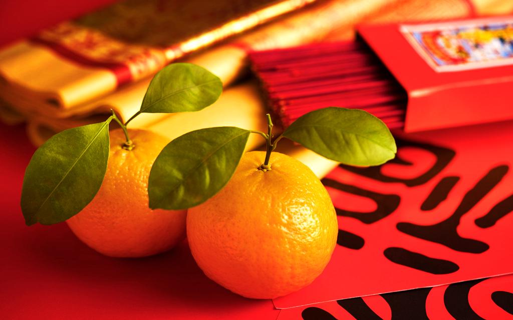 Мандарины, один из символов китайского Нового года