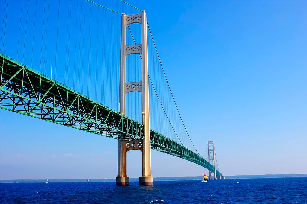Мост Макинак в Мичигане