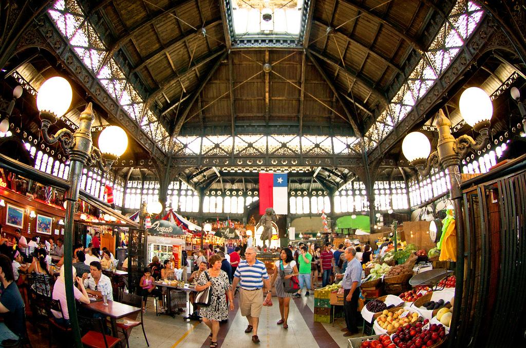 Рынок Меркадо в Сантьяго