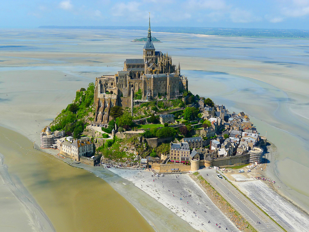 Монастырь Мон-Сен-Мишель, Сен-Мало, Франция