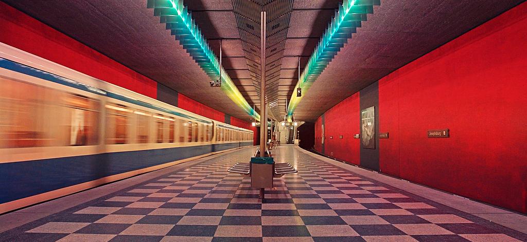 Станция метро в Мюнхене