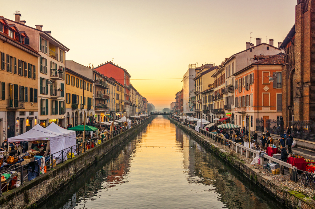 Район Navigli в Милане
