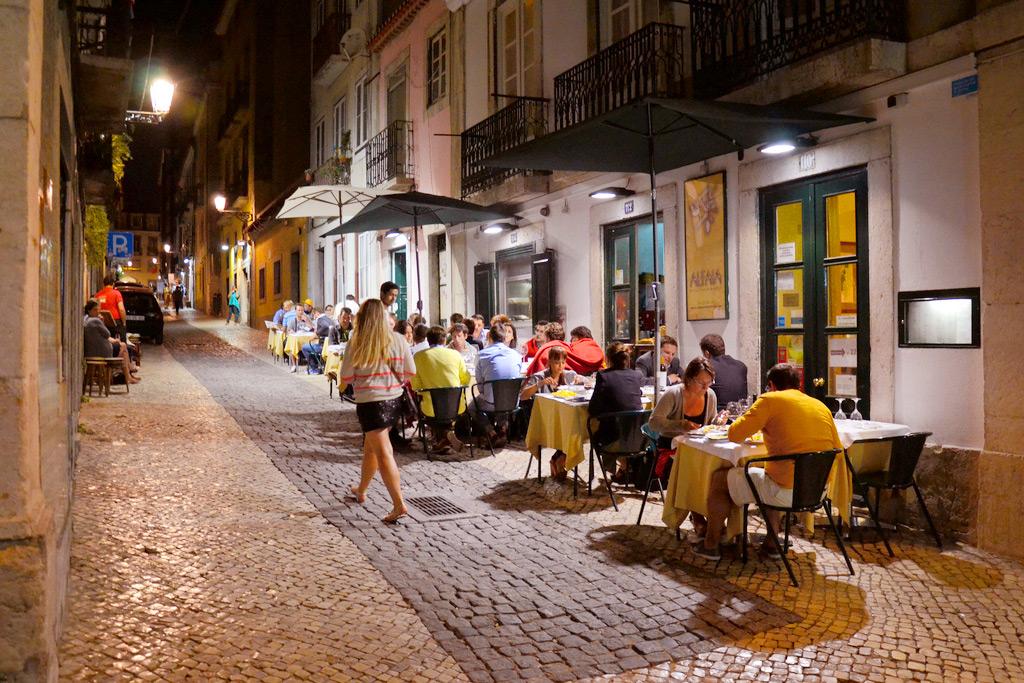 Ночной Байрру-Алту (Лиссабон)