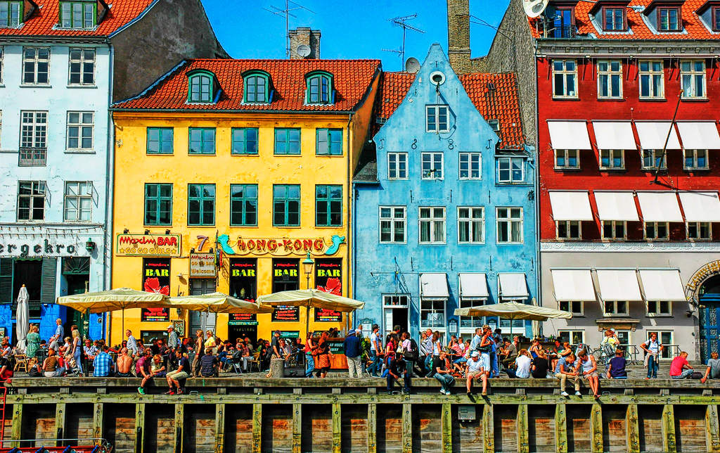 Набережная Ньюхавн в Копенгагене, Дания