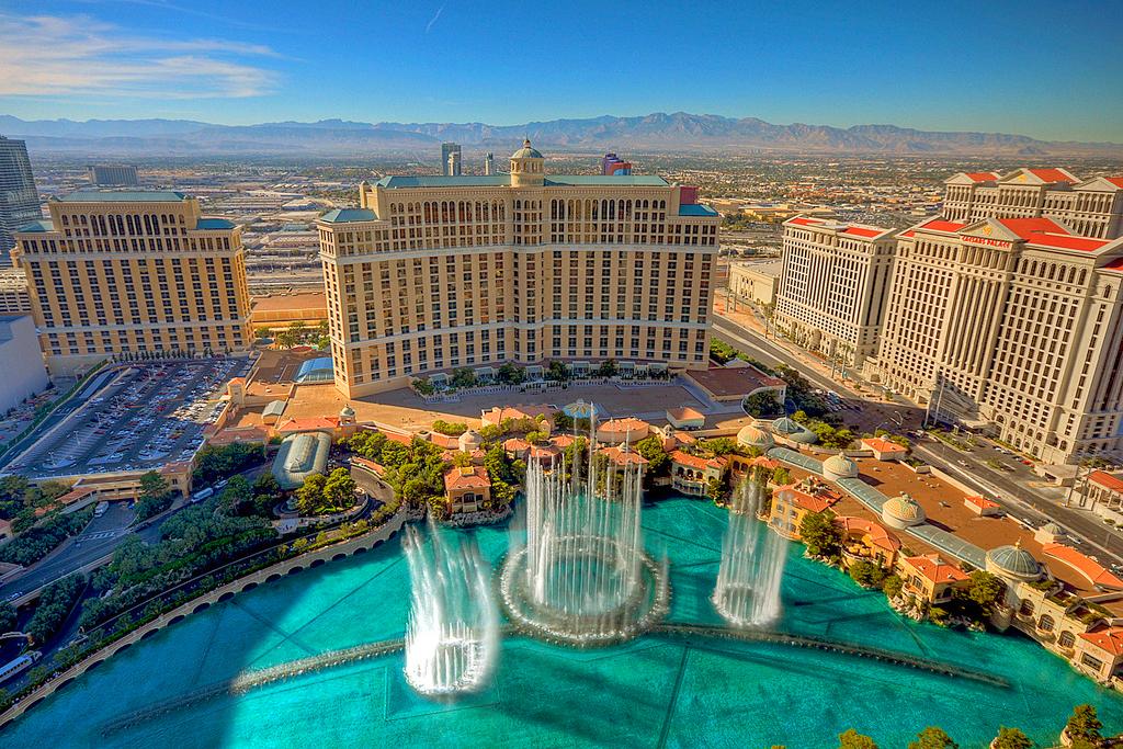 Отели Caesars Palace и Bellagio, Лас-Вегас, США