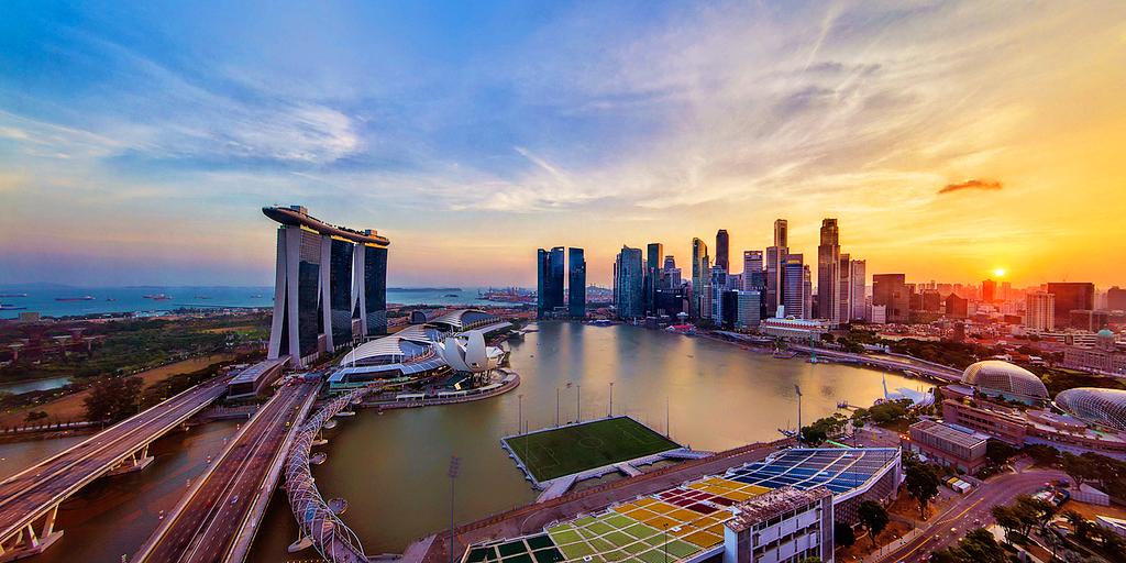 Плавучая сцена, Марина Бей, Сингапур