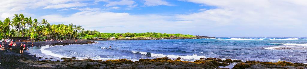 Пляж Пуналуу, Гавайи, США