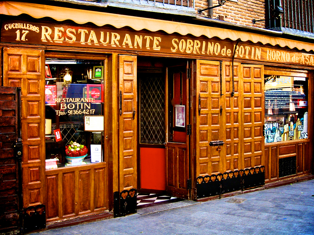 Ресторан Собрино де Ботин (Sobrino de Botin), Мадрид, Испания