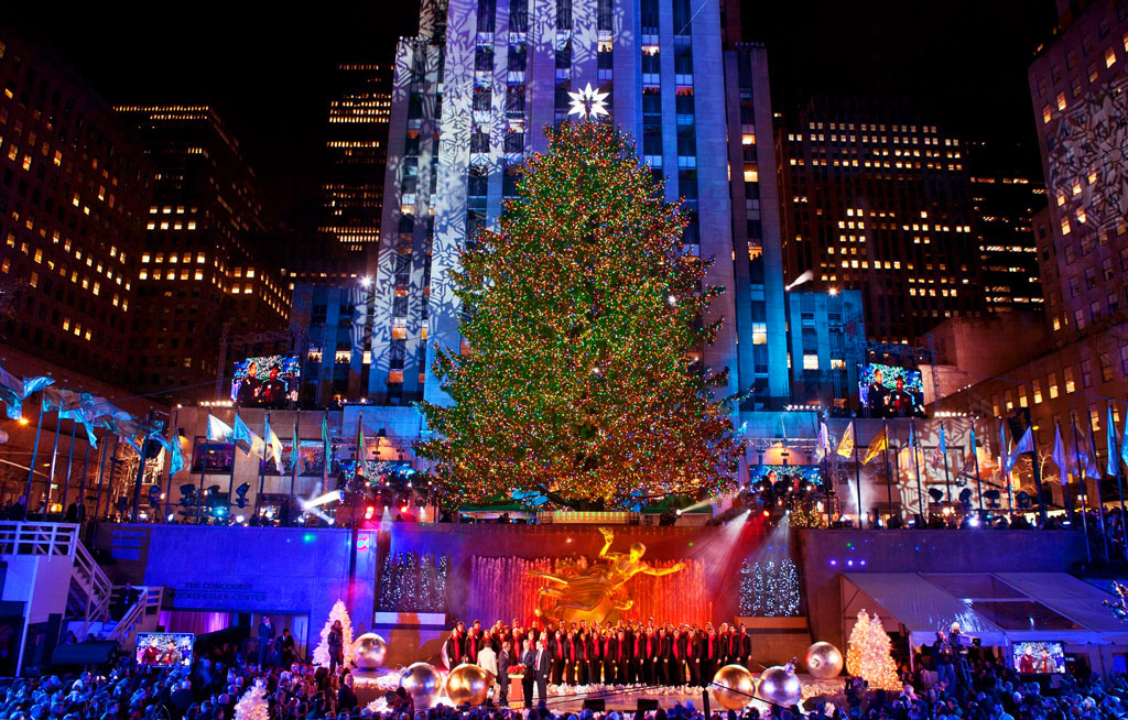 Рождественская елка в Рокфеллер-центре