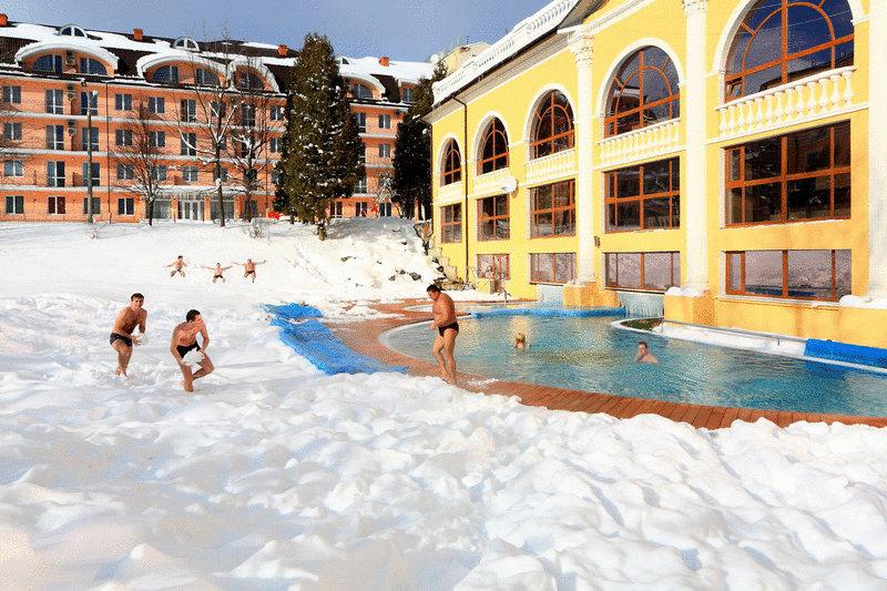 Royal Hotels & SPA Resort Женева зимой