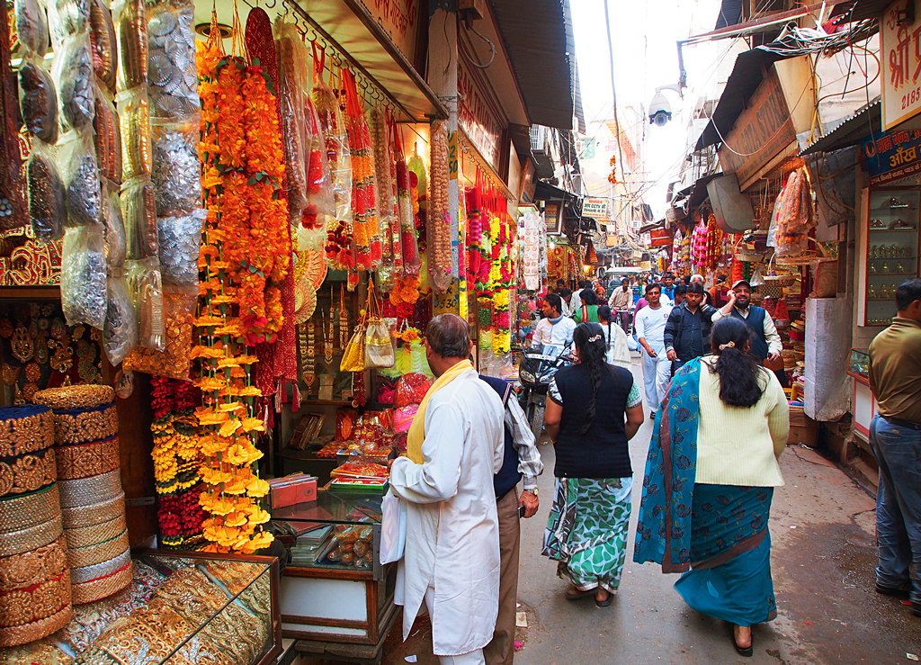 Рынок Чандни Чоук, Дели, Индия