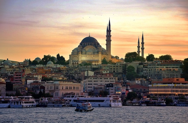 Вид на Мечеть Сулеймание, Стамбул