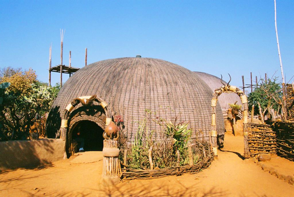 Традиционные зулусские хижины
