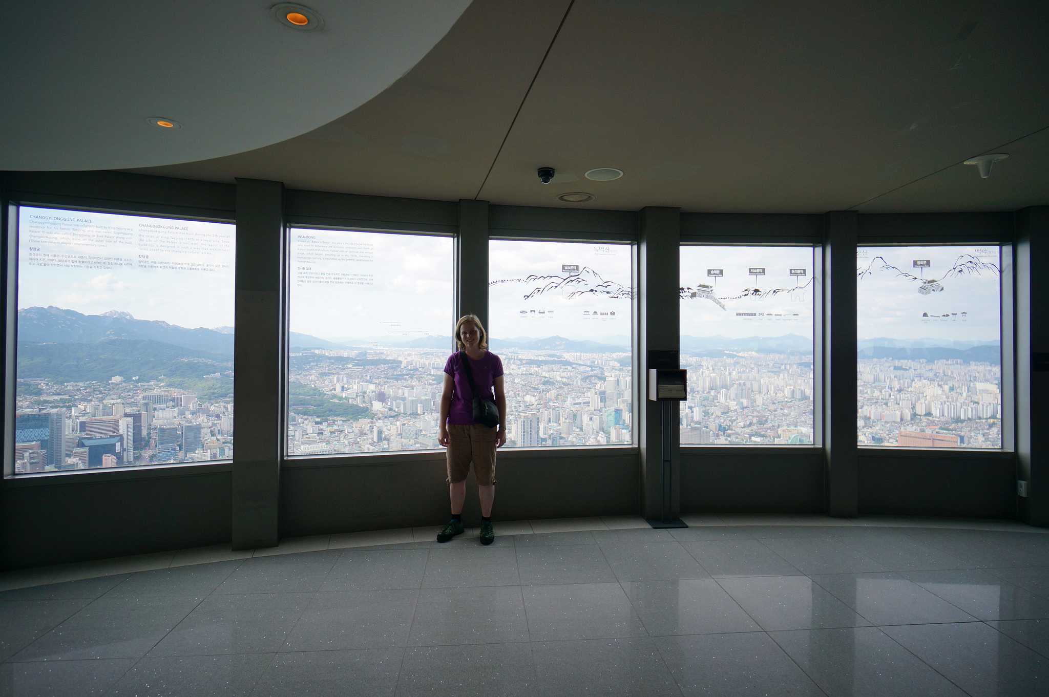 Смотровая площадка в  телебашне Сеула