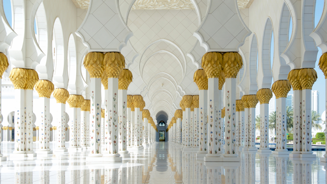 Северный коридор Большой мечети, Абу-Даби