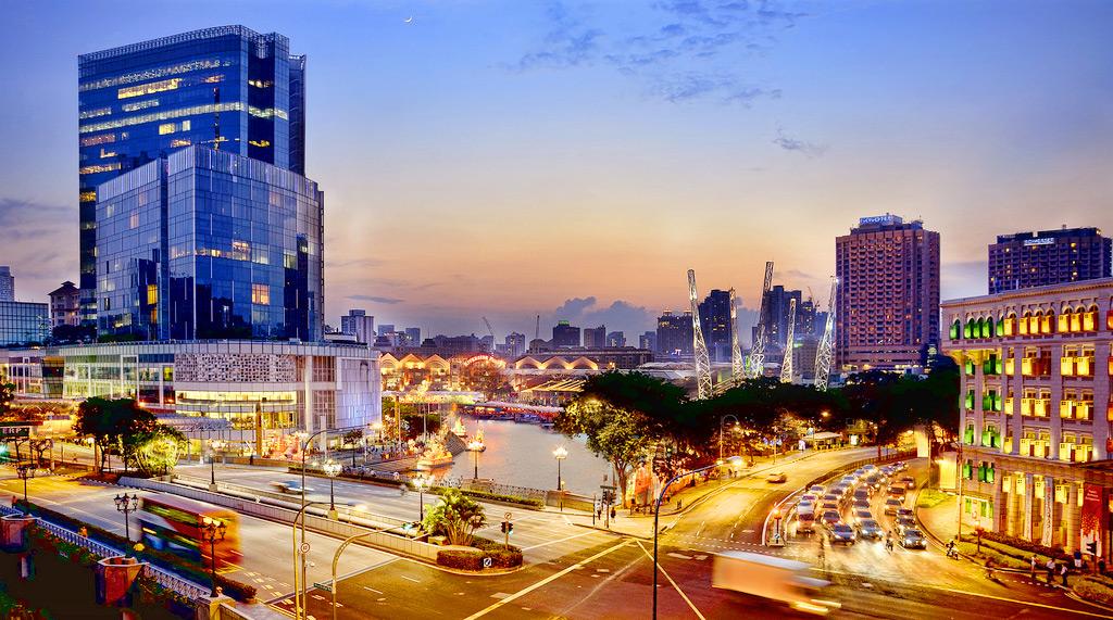 Сингапур, ночные улицы