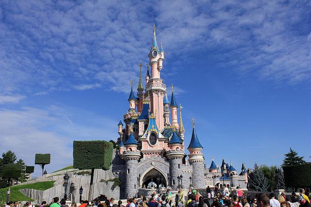 Замок Спящей красавицы в диснейленде