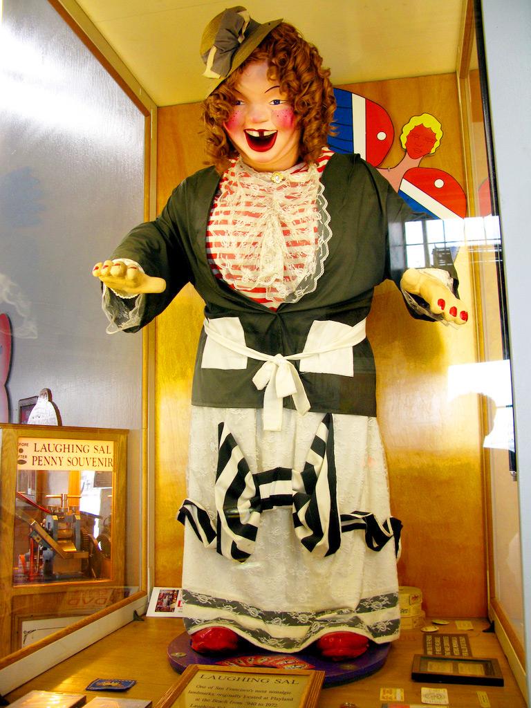 Смеющаяся Сал, Musèe Mècanique. Музей механики, Сан-Франциско