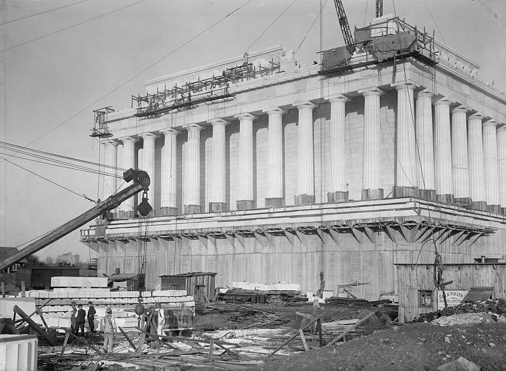 Строительство мемориала Линкольна, 1914 год