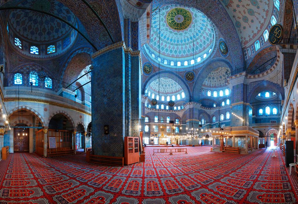 Внутренний вид мечети, мечеть Султанахмет, Стамбул