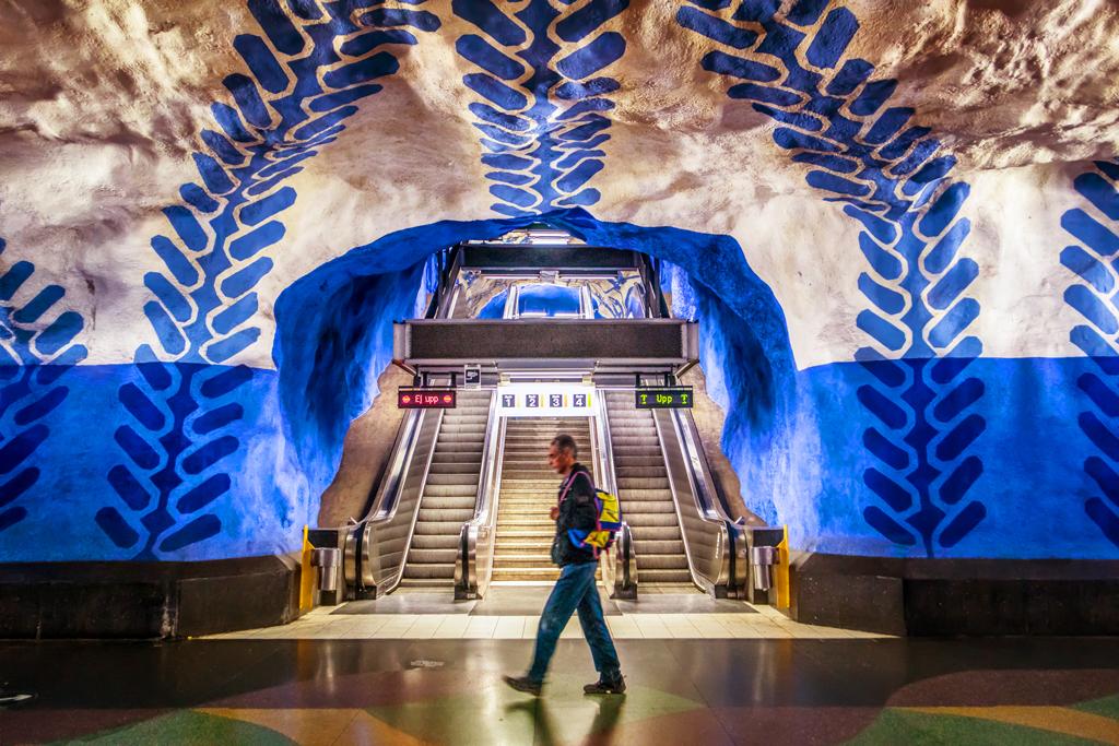 Красивые станции метро Стокгольма, Швеция