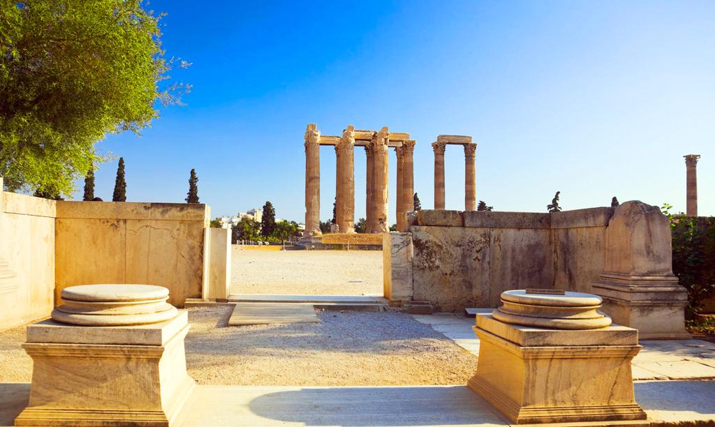Вид на храм Зевса Олимпийского