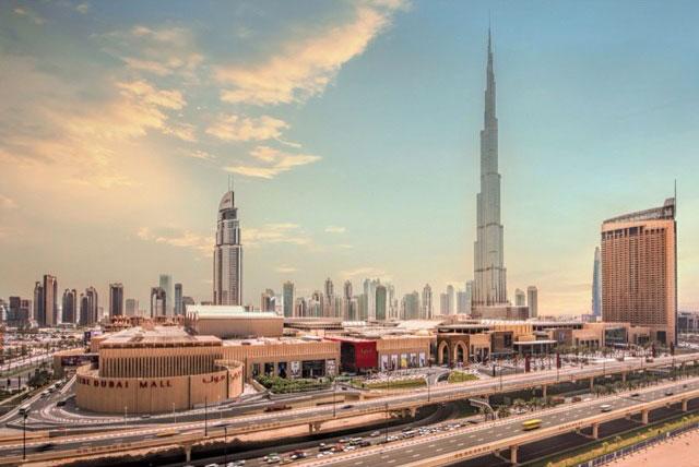 Торговый центр Dubai Mall и башня Burj Khalifa