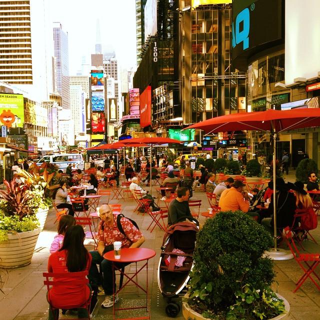 Вид на Times-Square в Нью-Йорке