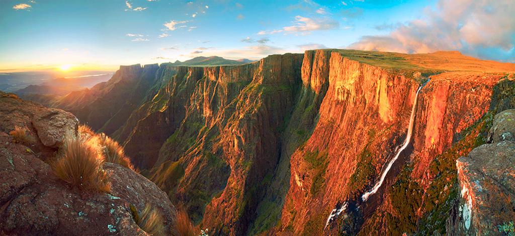 Водопад Тугела в Южной Африке