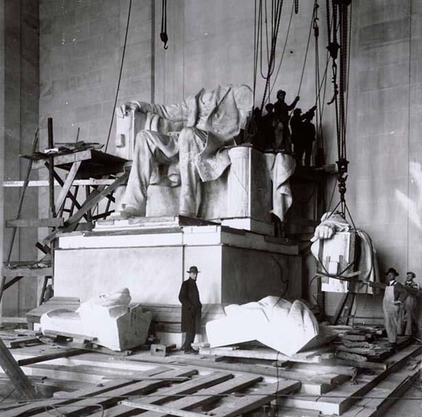 Установка статуи Линкольна, 1920 год