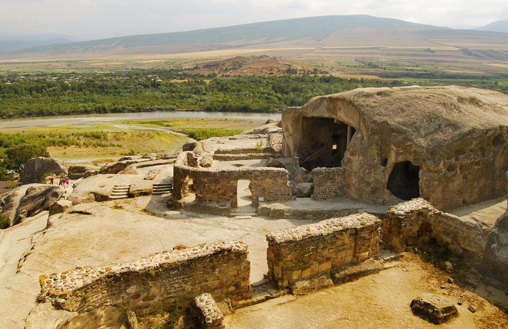 Вид из города крепости Уплисцихе, Грузия
