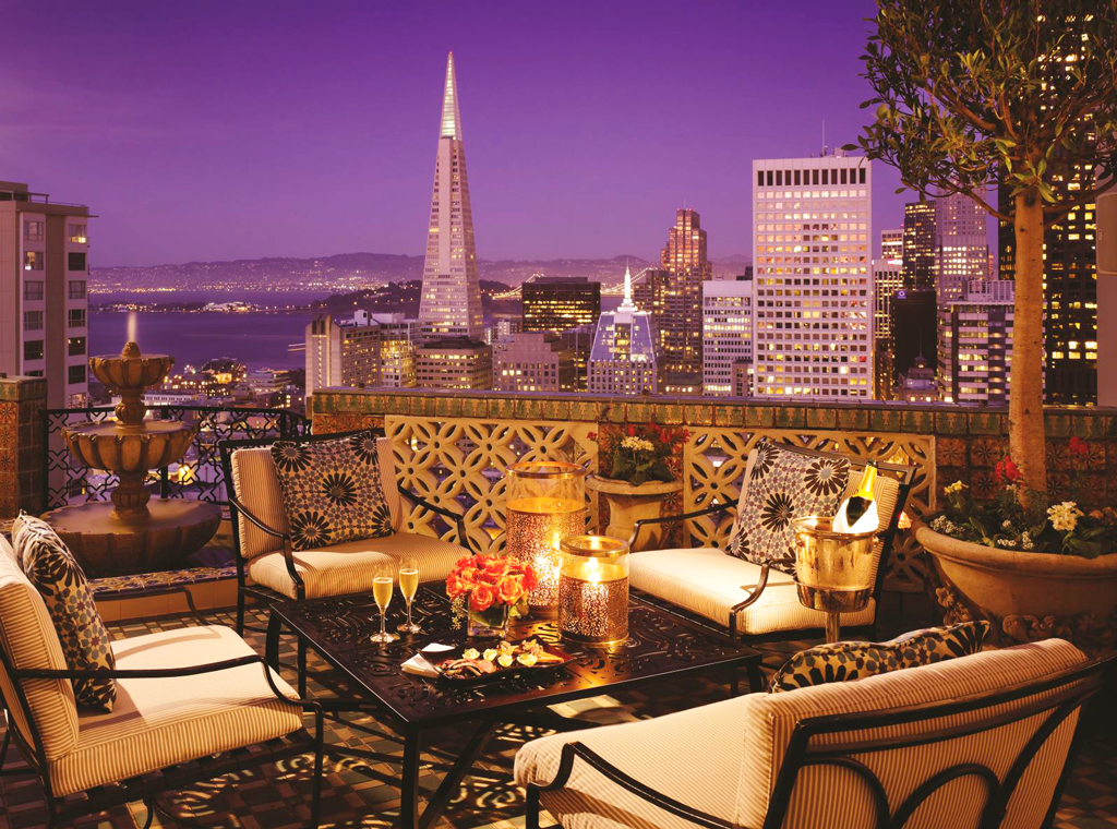 Вид из отеля Fairmont San Francisco, Сан-Франциско, США