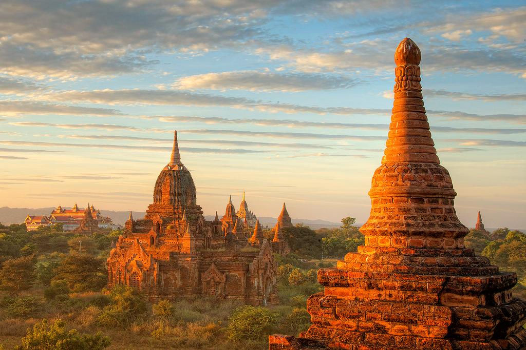 Вид на Баган, Мьянма