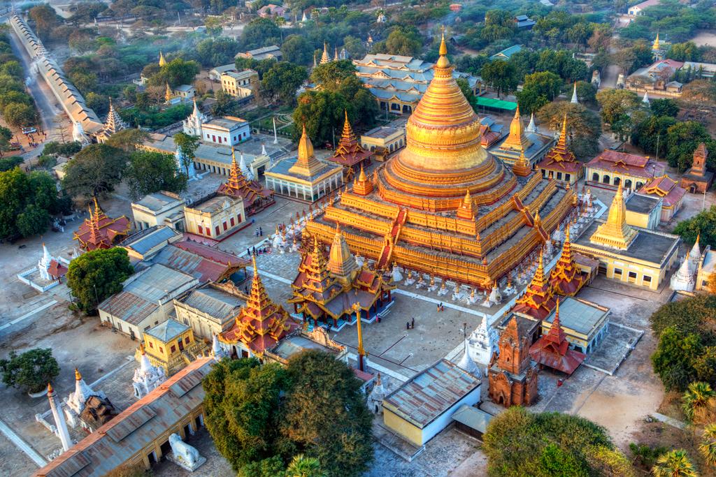 Вид на Баган с воздушного шара, Мьянма