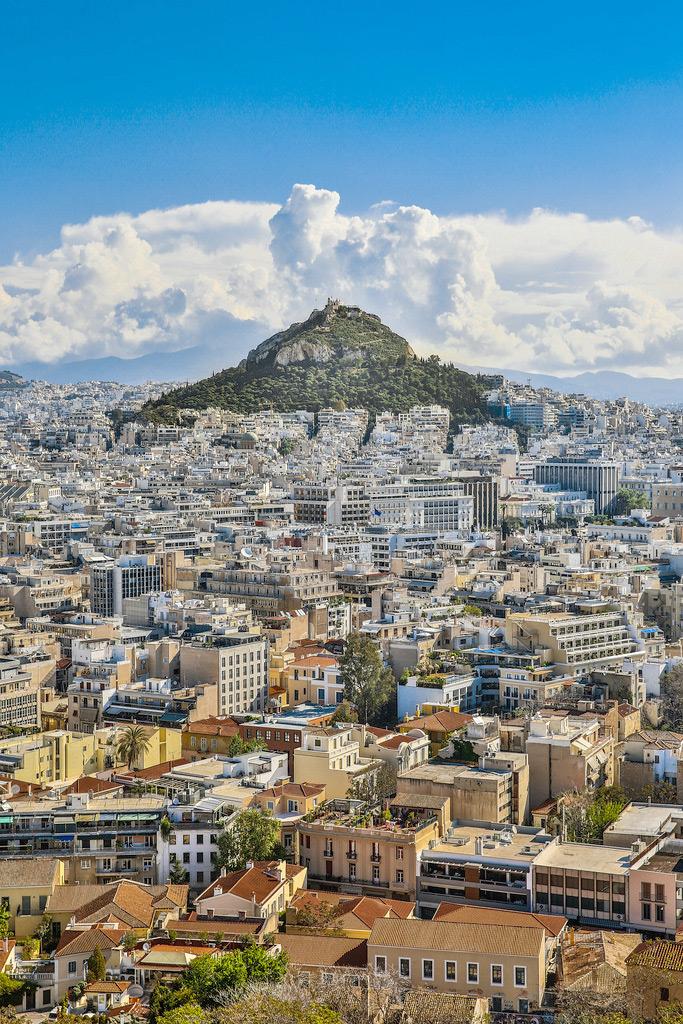 Вид на гору Ликавитос, Афины