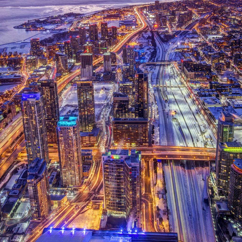 Вид с телевизионной башни CN Tower, Торонто