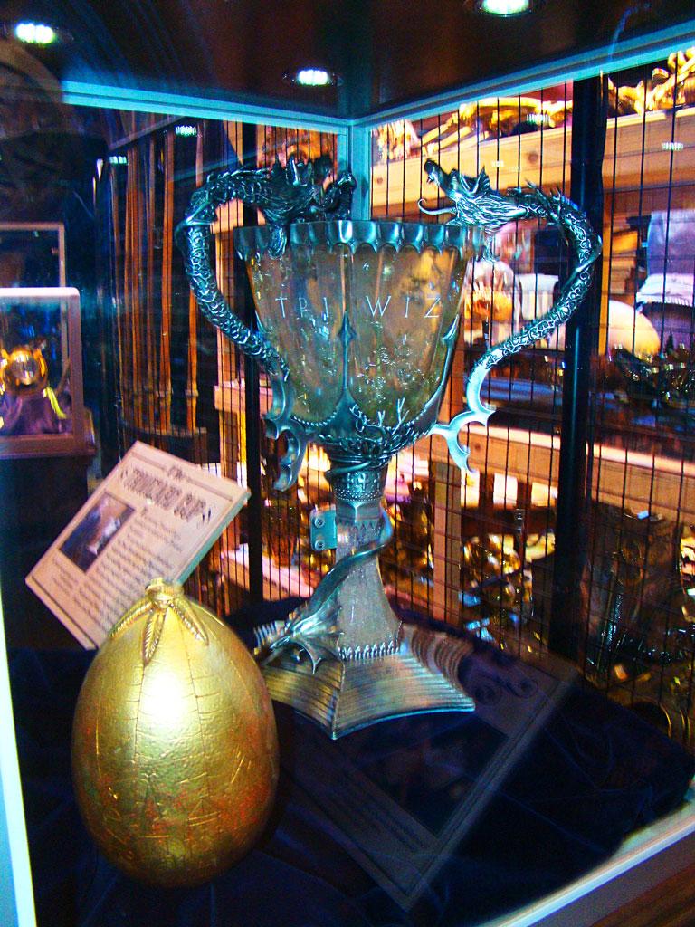 Экспонаты в музее Гарри Поттера в Лондне
