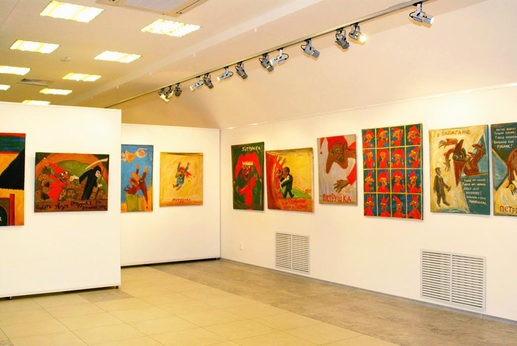 Юбилейная выставка Вячеслава Копотева, музей изобразительных искусств имени Г. Айтиева, Бишкек