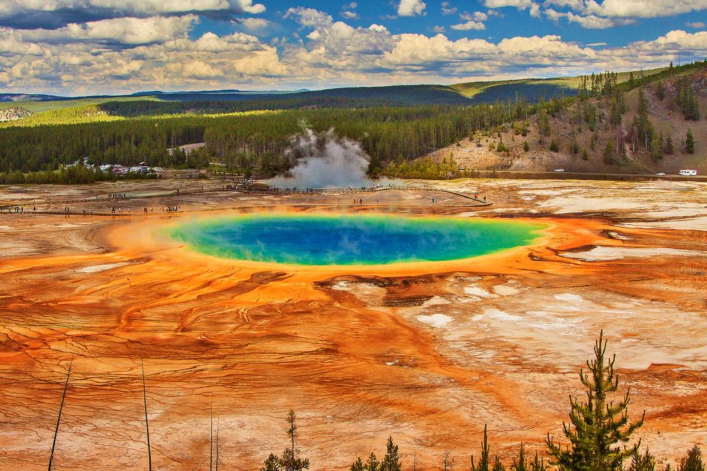 Национальный парк Йеллоустоун, штаты Вайоминг, Монтана, Айдахо