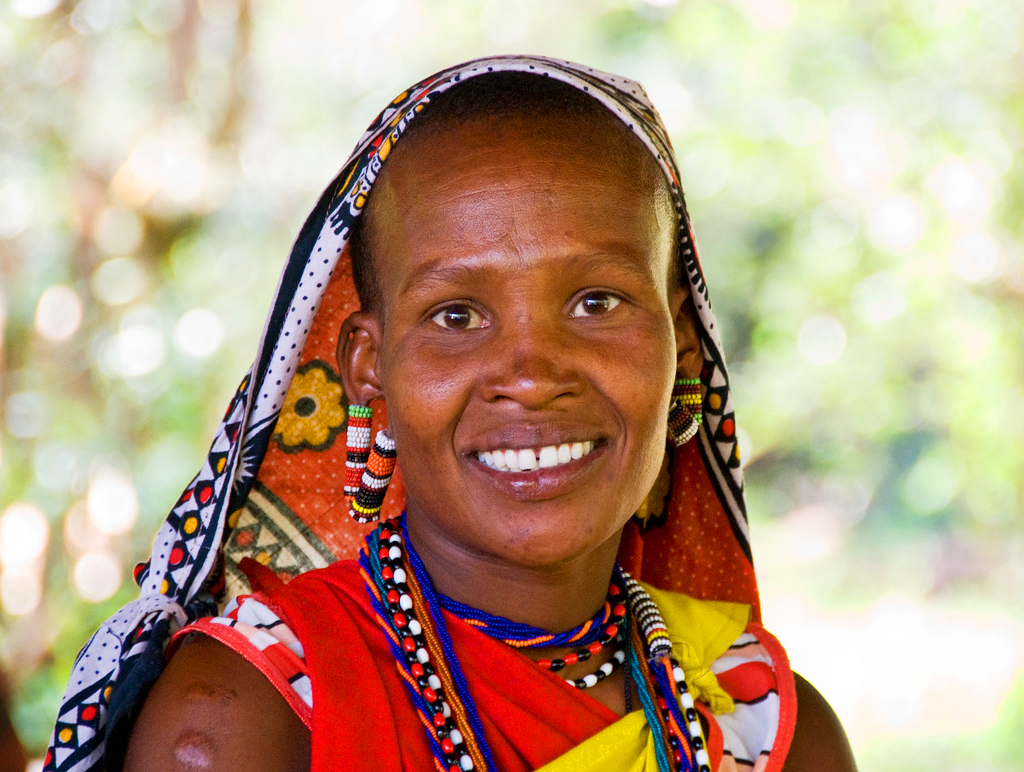 Женщина племени масаи
