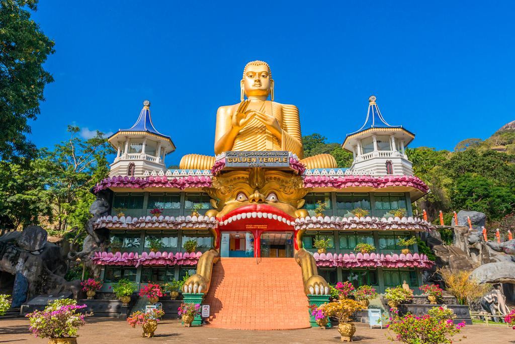 Золотий храм Дамбулла, Шри-Ланке