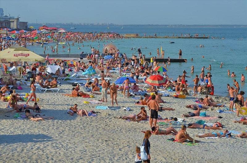 Одесский пляж Золотой Берег