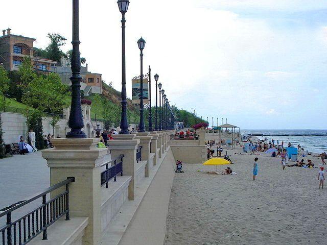 Пляж Золотой Берег в Одессе