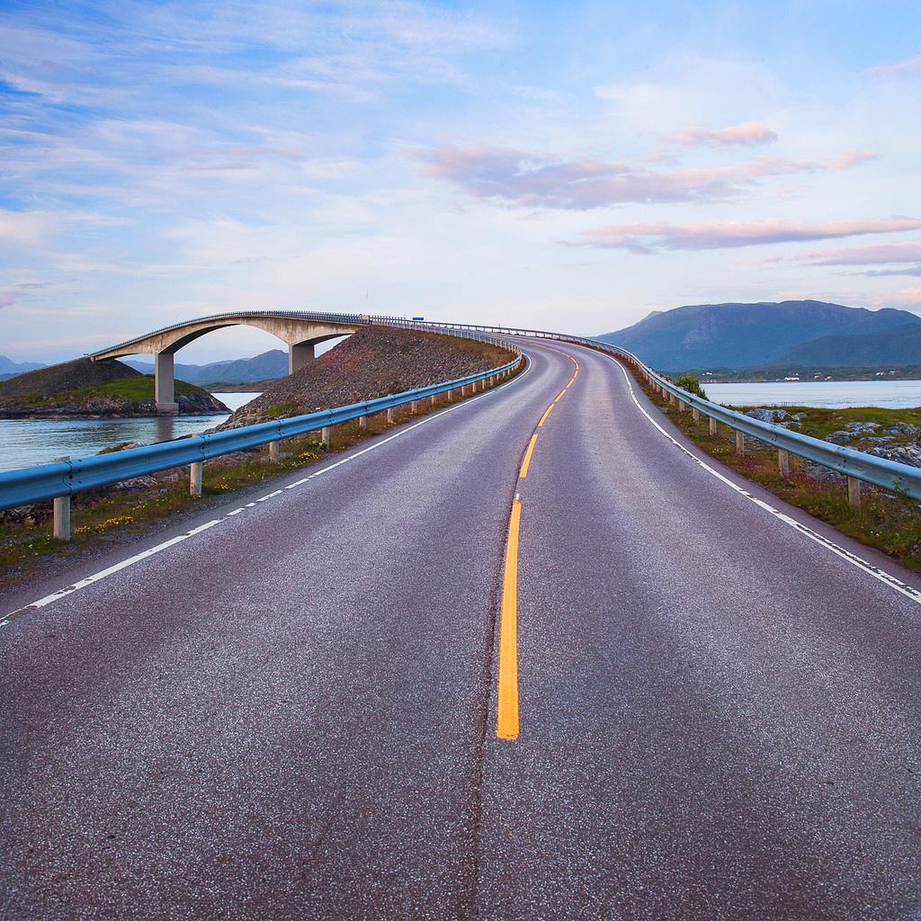 Атлантик роуд или «пьяная дорога» в Норвегии