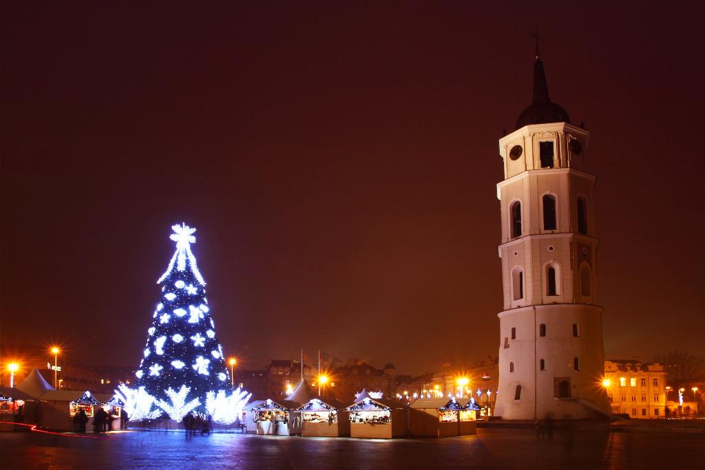 Рождественский городок на Кафедральной площади
