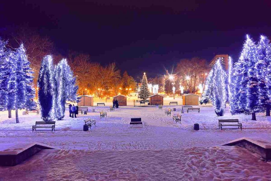 Новый год в Трускавце 2016 - Центральный парк