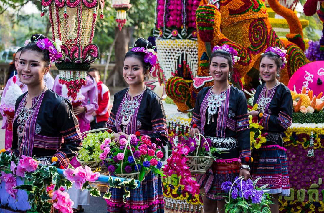 Фестиваль цветов в Чиангмае, Тайланд