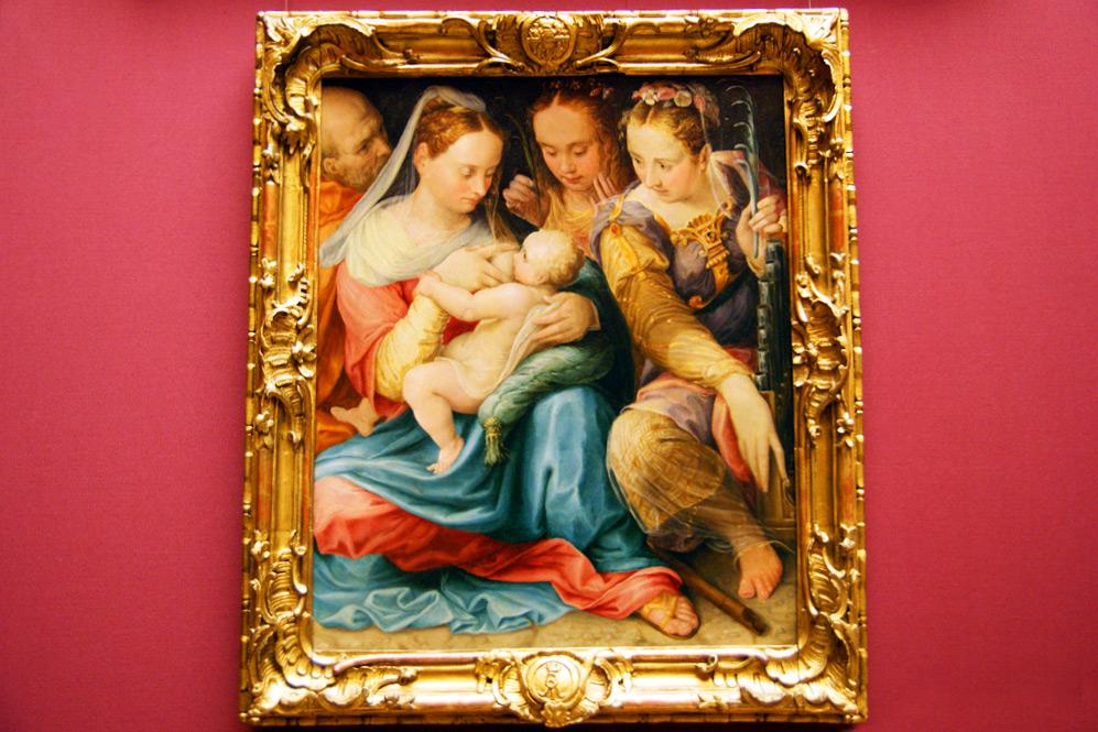 Просперо Фонтана - Святое Семейство с маленьким Иоанном Крестителем и святой Елизаветой