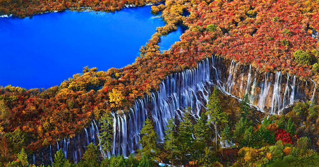 Водопад Чжэньчжутань в Китае