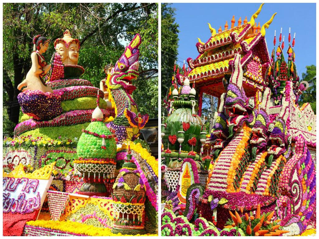 Парад фестиваля цветов в Тайланде, Чиангмай